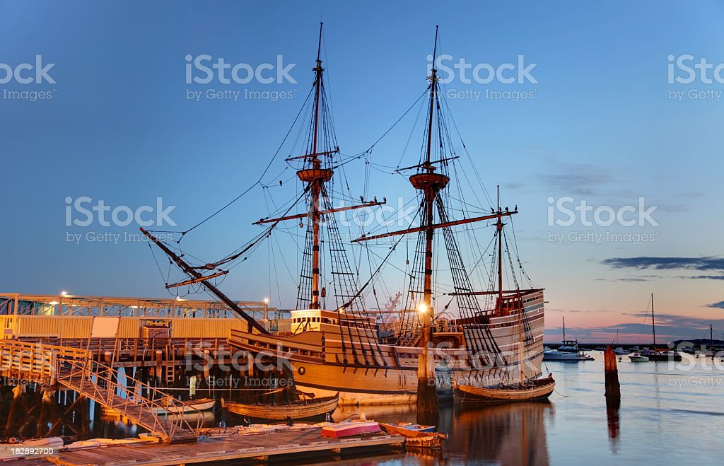 The Mayflower II stock photo