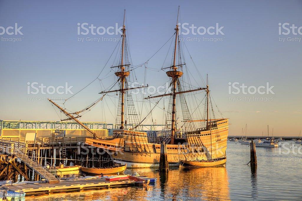 The Mayflower II stock photo