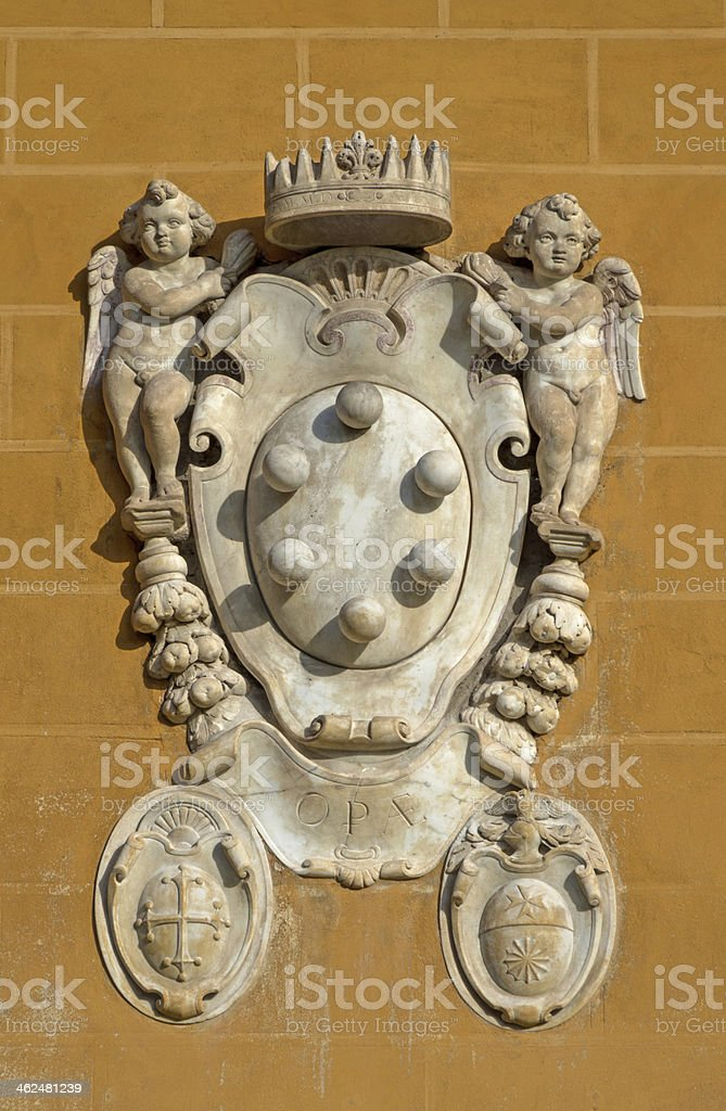 The Medici family embleme stock photo