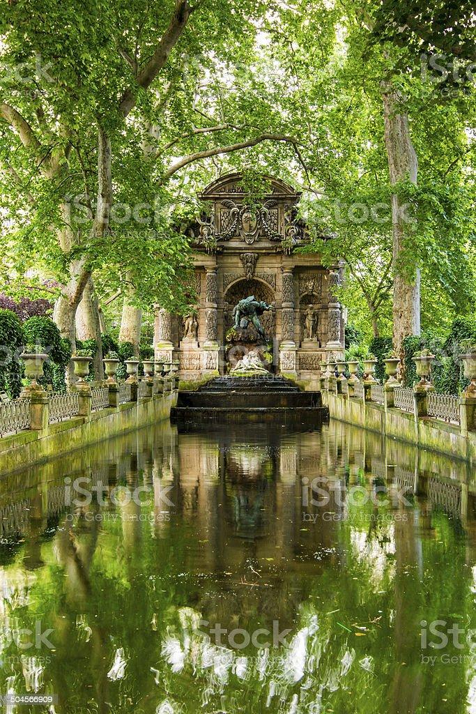 The Medici Fountain, Paris, France stock photo