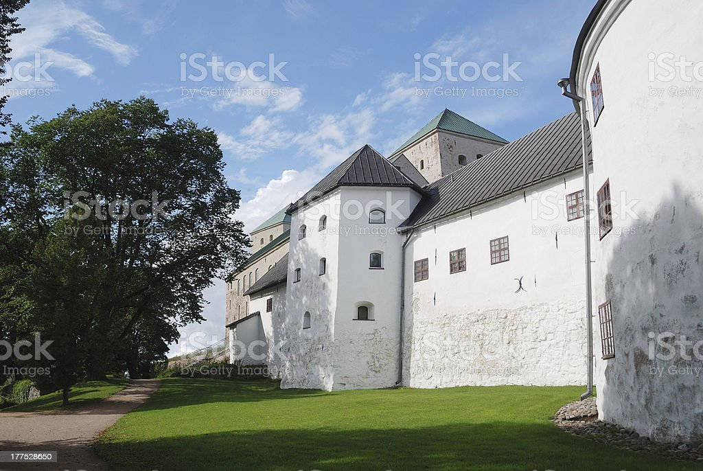 'the medieval castle in Turku, Finland, Turun linna' stock photo