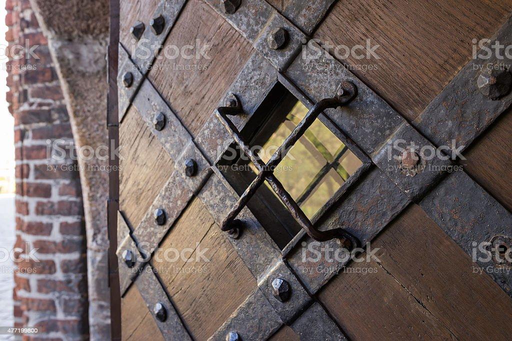 The medieval door stock photo
