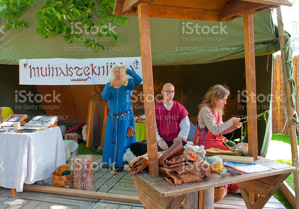 The Medieval Market in Turku stock photo