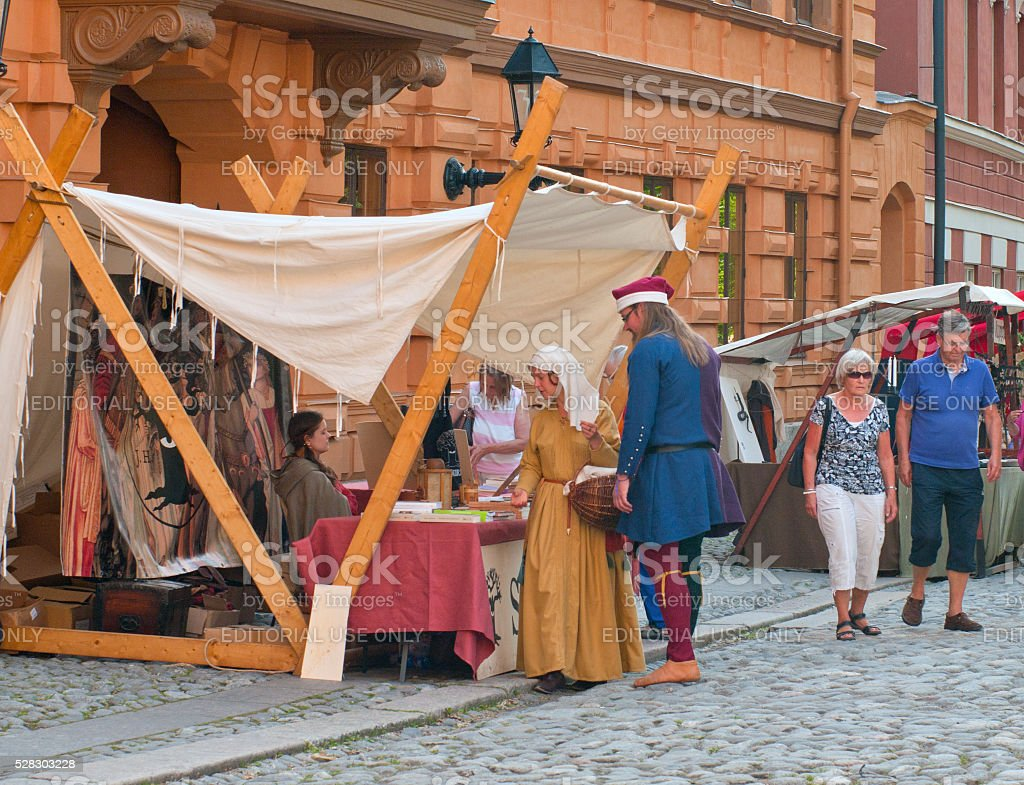 The Medieval Market of Turku stock photo