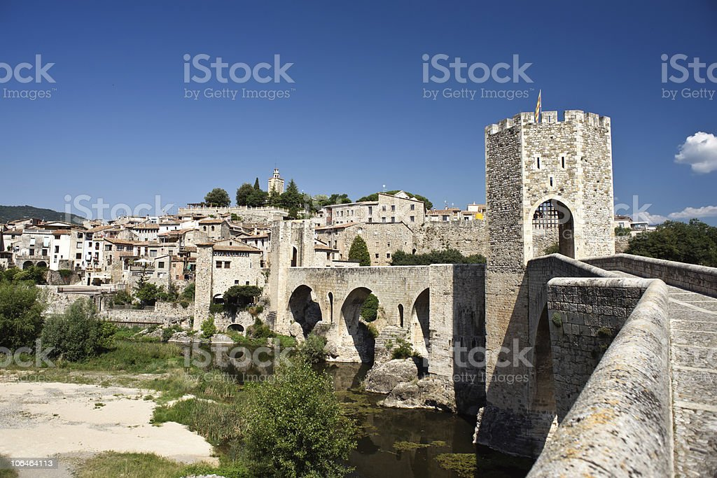 The medieval remains of Besalu royalty-free stock photo