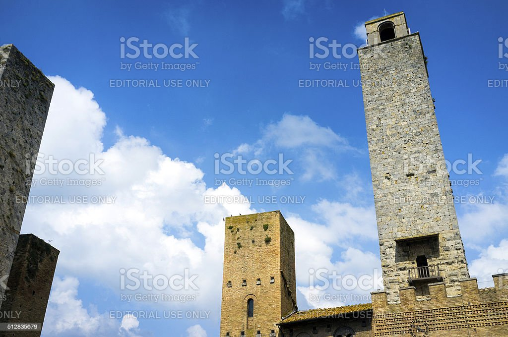 The medieval towers of San Gimignano, Tuscany. Color image stock photo