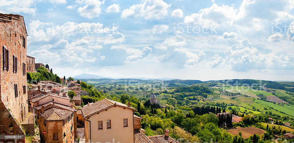 The medieval town of Montepulciano royalty-free stock photo
