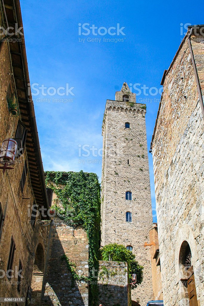 the medieval town of San Gimignano stock photo