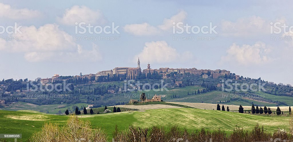 The medieval town Pienza in italy royalty-free stock photo