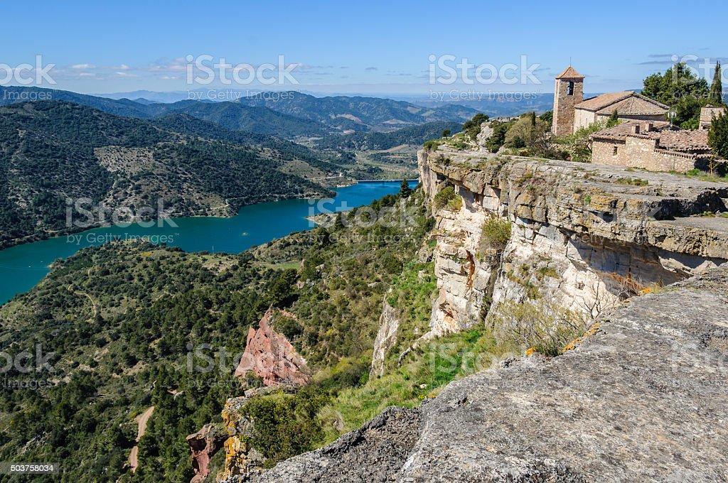 The medieval village of Siurana, Catalonia, Spain stock photo