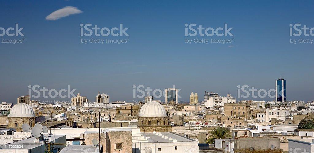 The medina of Tunis stock photo