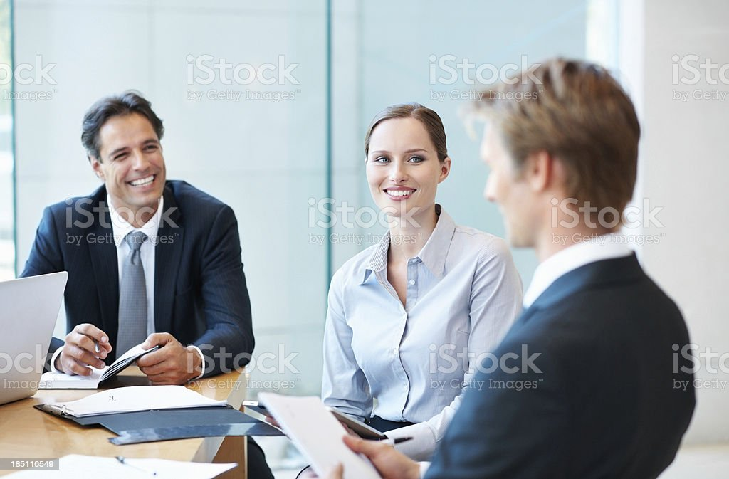 The meeting of minds royalty-free stock photo