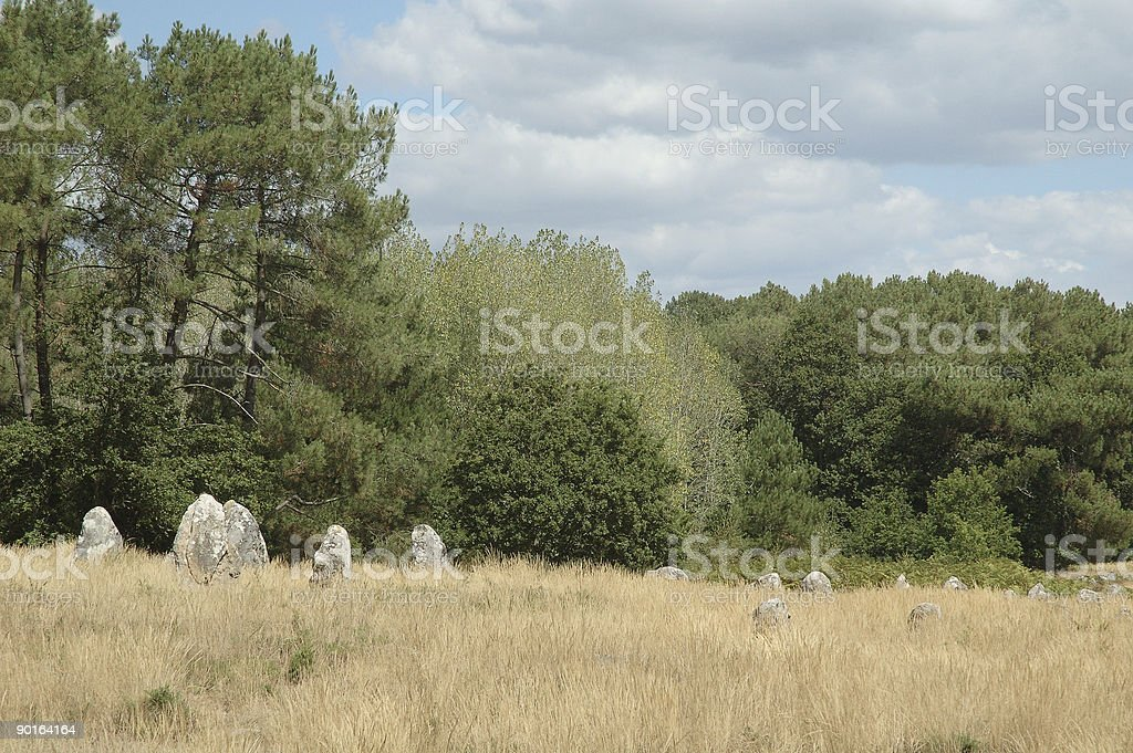 The Megaliths of Carnac (France) royalty-free stock photo