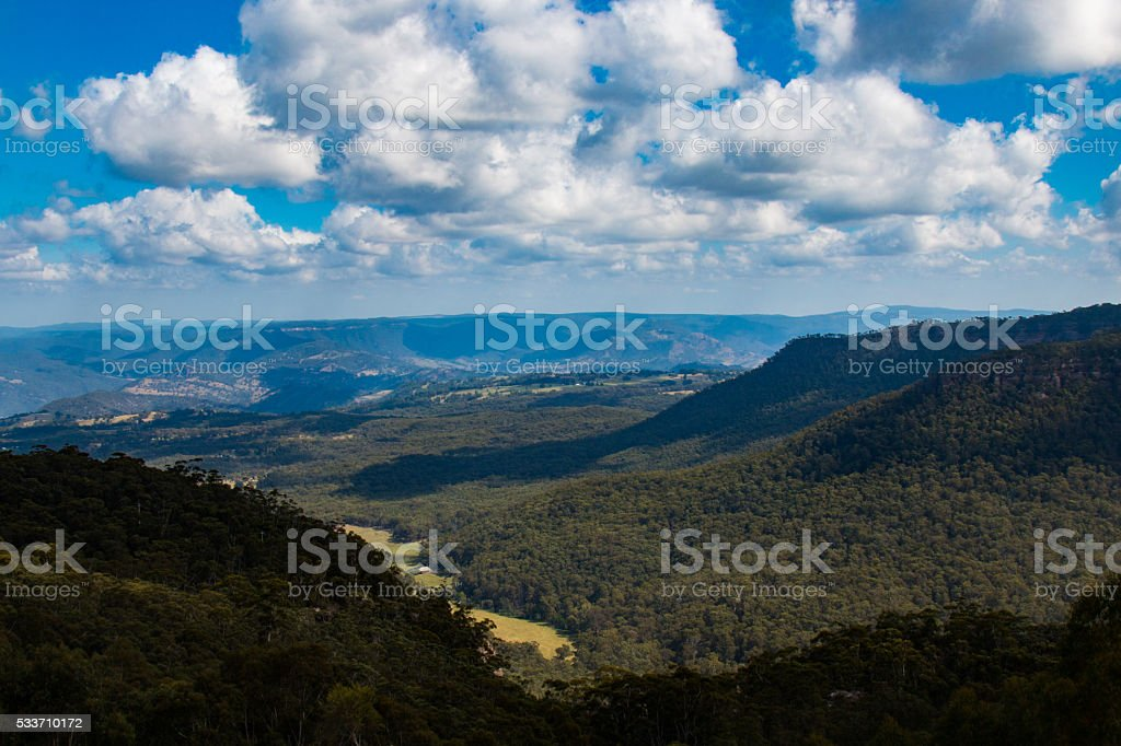 The Megalong Valley stock photo