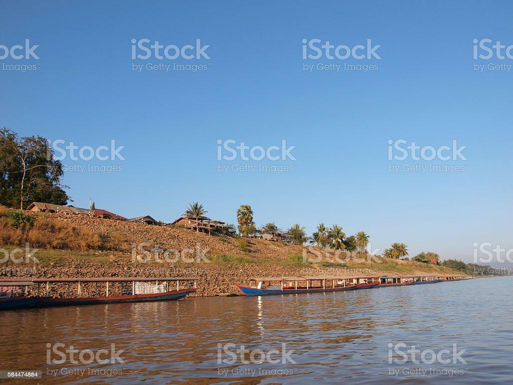 The Mekong river life stock photo