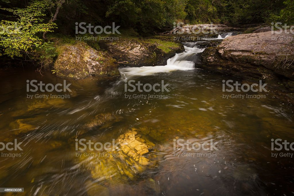 The Mellte river stock photo