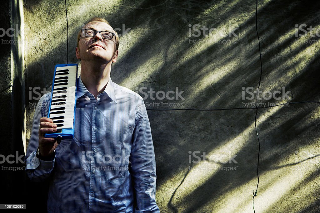 the melodica man royalty-free stock photo