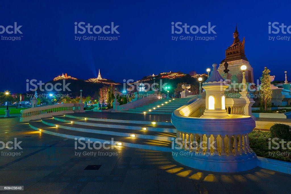 The Memorial Park. 4 e. Phetchaburi. stock photo