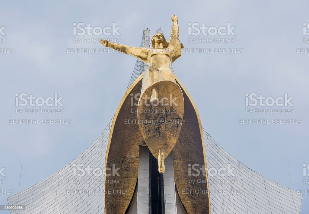 The memorial stele 'warriors-liberators of Rostov-on-Don stock photo