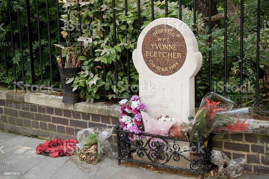 The memorial to WPC Yvonne Fletcher, London, United Kingdom stock photo