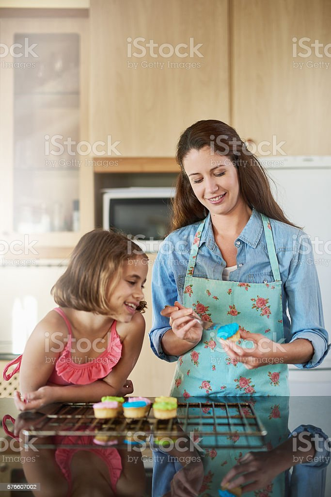 The memories are as sweet as the frosting stock photo