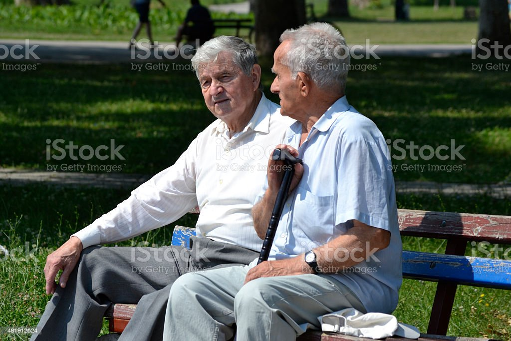 The memories of their younger days stock photo