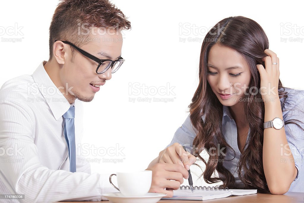 The men and women at work royalty-free stock photo