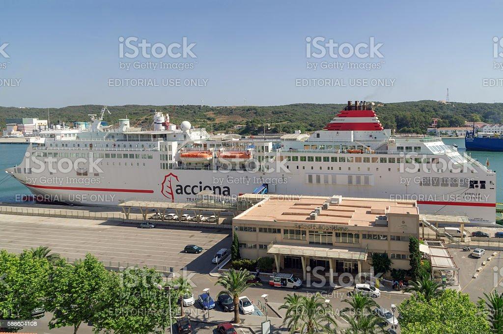 The Menorcan capital of Mahon in spain. stock photo