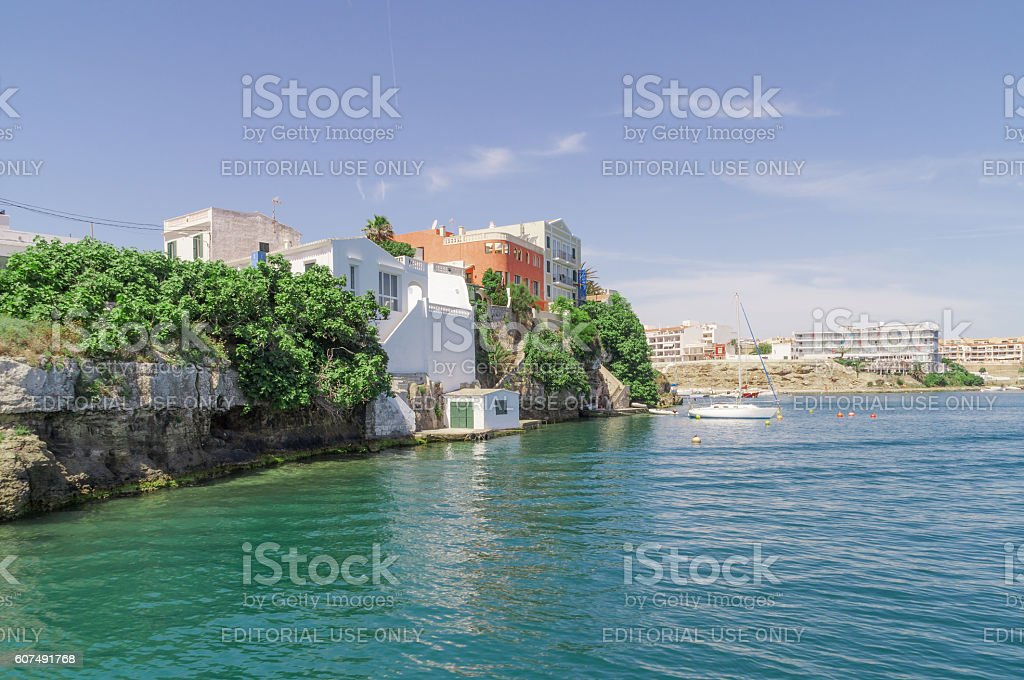 The Menorcan capital of Mahon in spain. stock photo