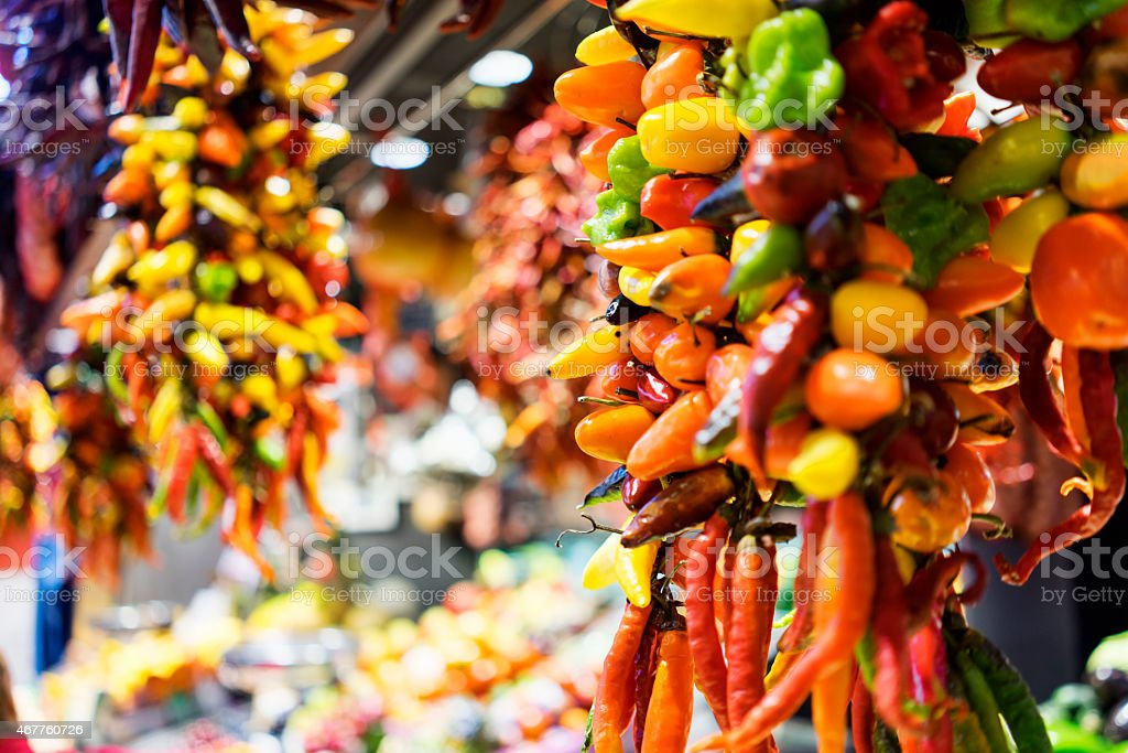 The Mercat de Sant Josep de la Boqueria stock photo