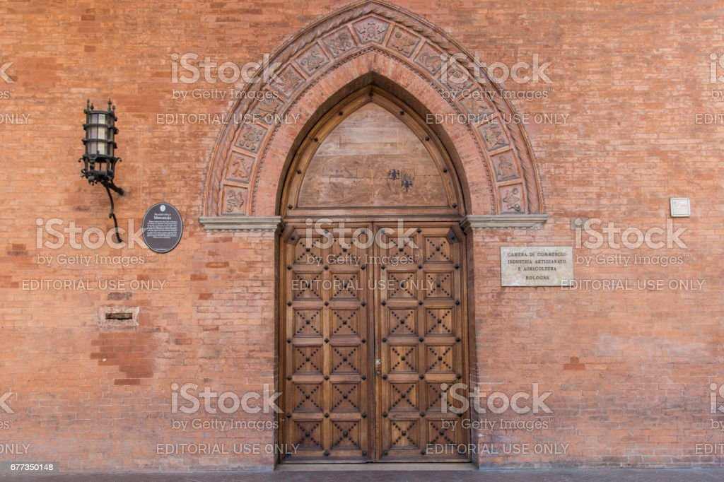 The Merchandise palace in Bologna stock photo