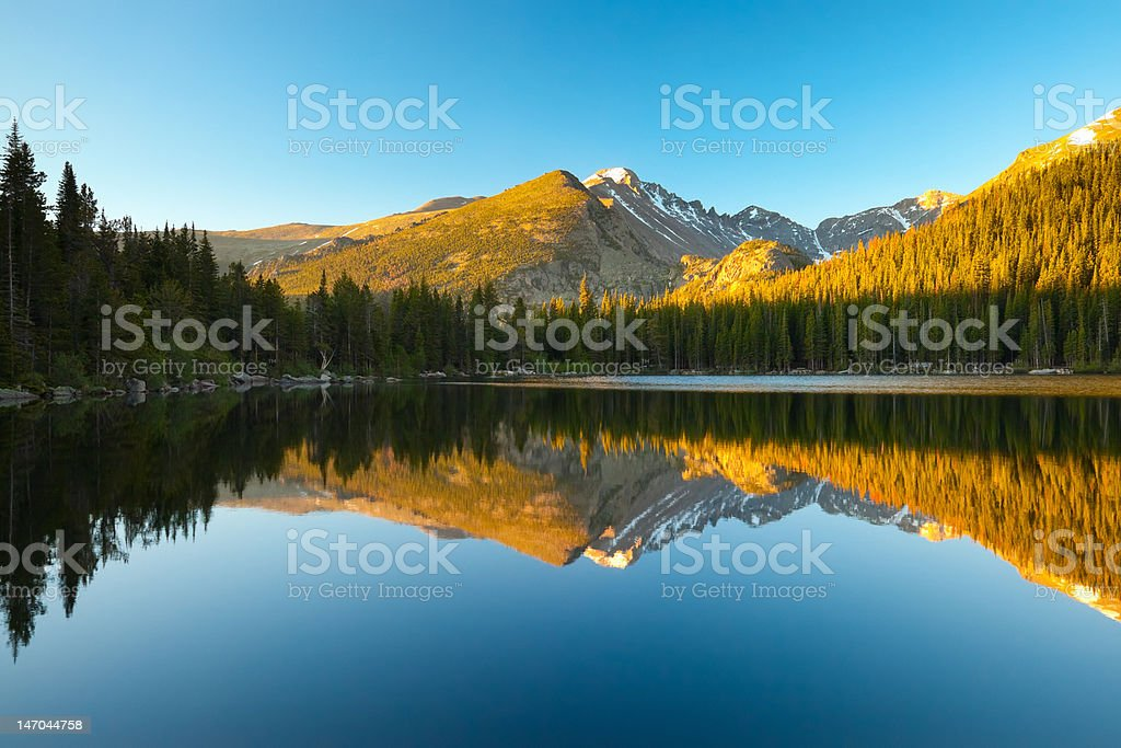 The mesmerizing Bear Lake in Colorado stock photo