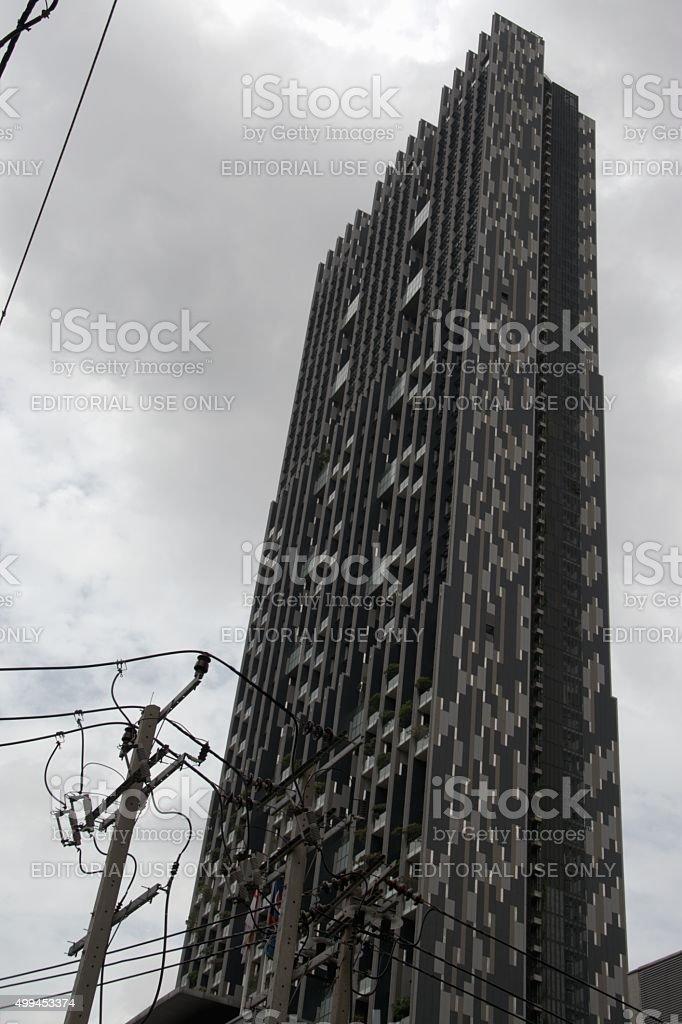 The Met skyscraper, Sathorn district of Bangkok stock photo