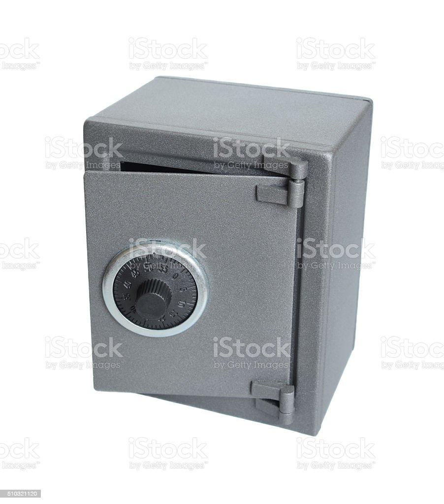 The metal safe. stock photo