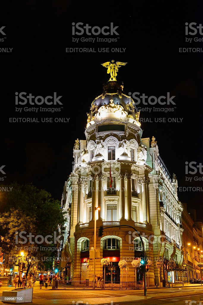 The Metropolis Building (Edificio Metropolis), Madrid stock photo