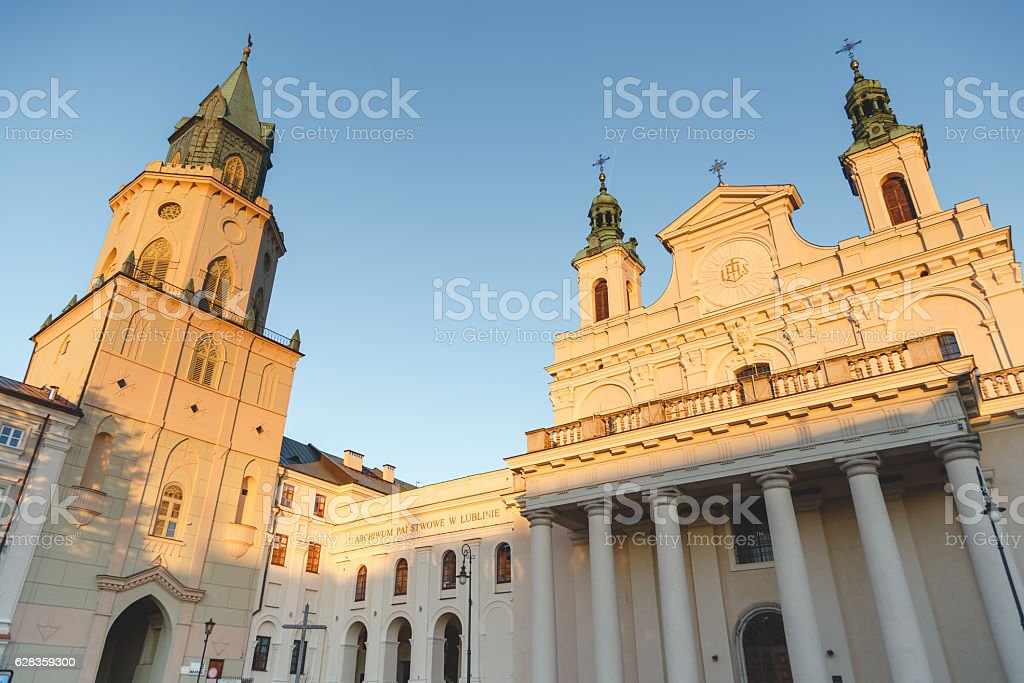 The Metropolitan Cathedral of St. John the Baptist and the stock photo