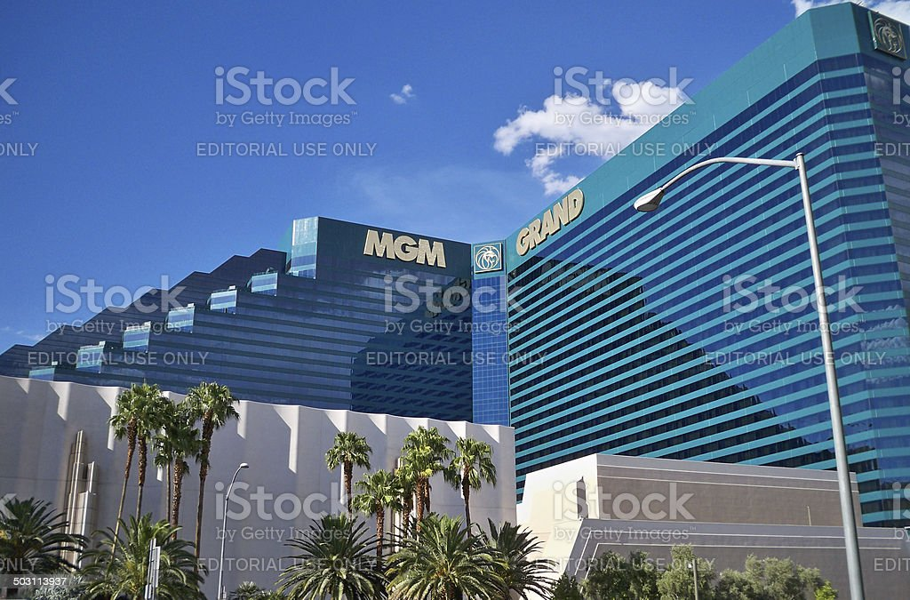 The MGM Grand Hotel, as seen from the street stock photo