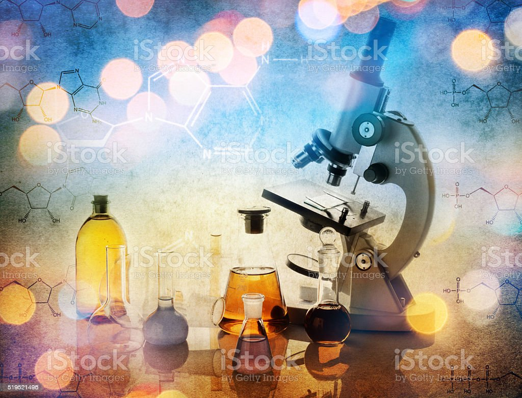 The microscope stock photo