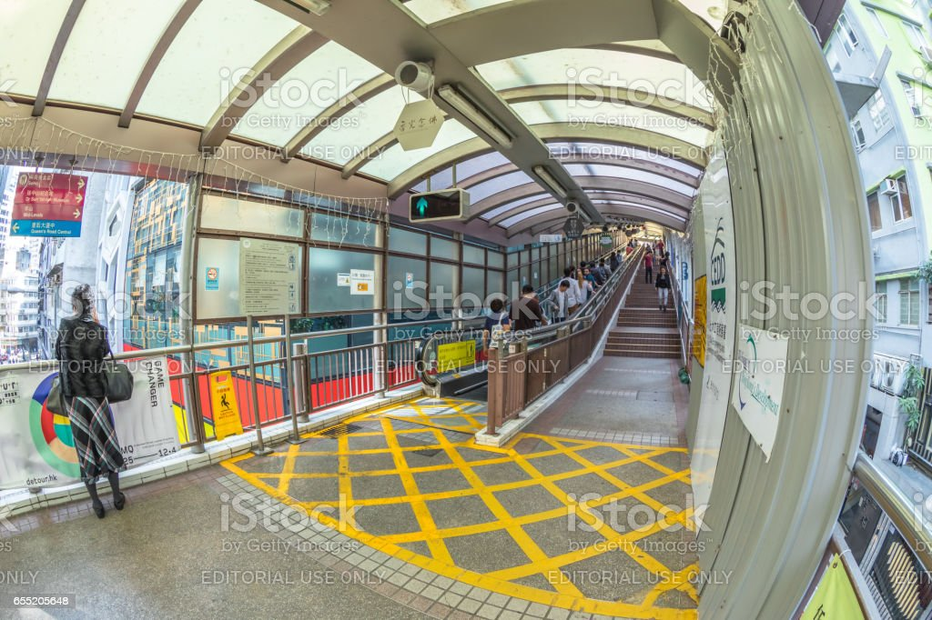 The Mid-Levels Escalator stock photo