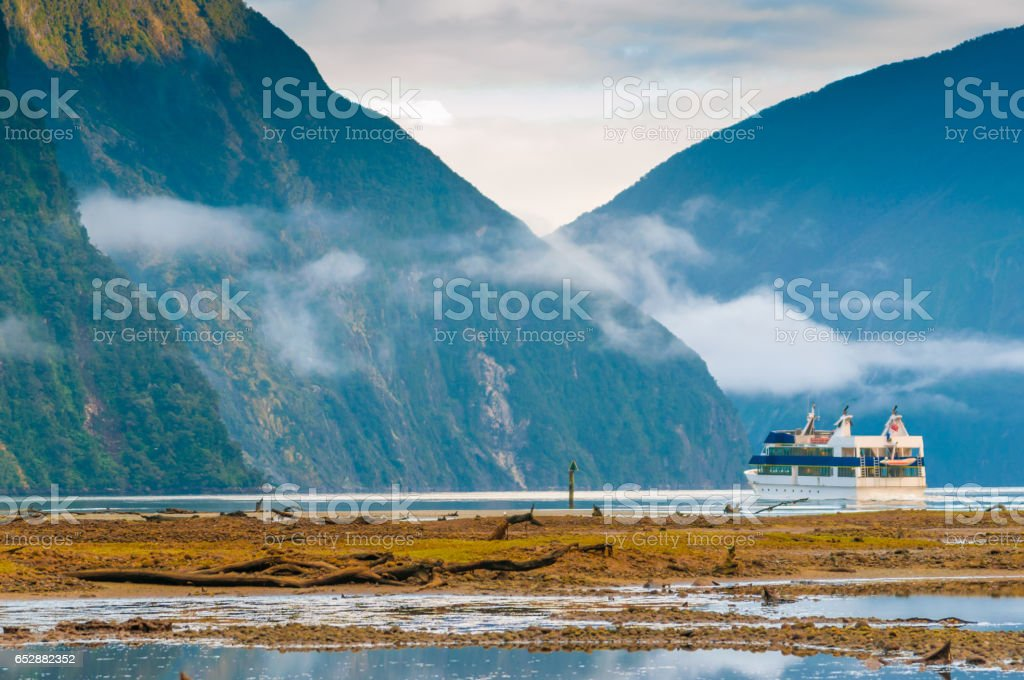 The Milford Sound fiord. Fiordland national park, New Zealand stock photo