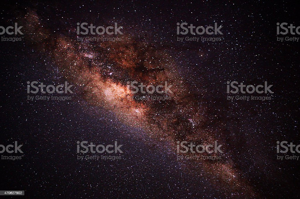 The Milky Way Galaxy in outer space stock photo