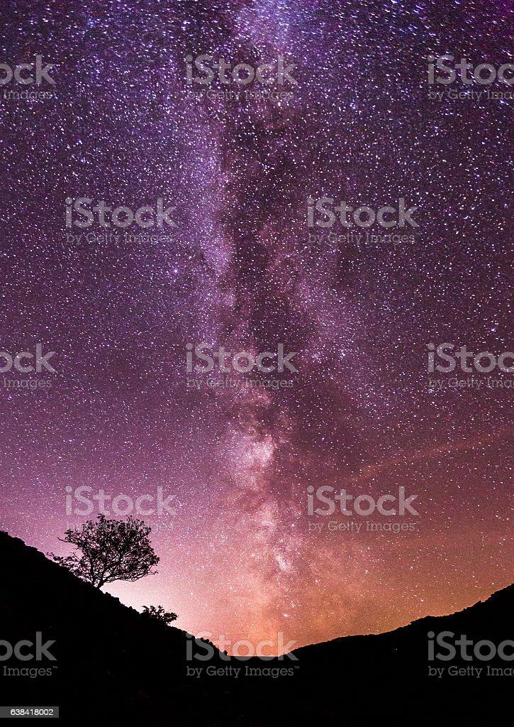 The Milky Way Over Dartmoor National Park stock photo