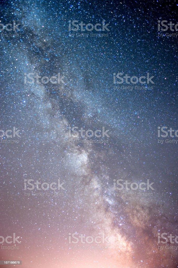 The Milky Way royalty-free stock photo
