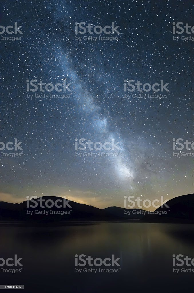 The milky way. stock photo