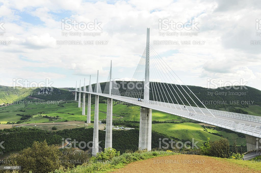 The Millau Viaduct, France stock photo