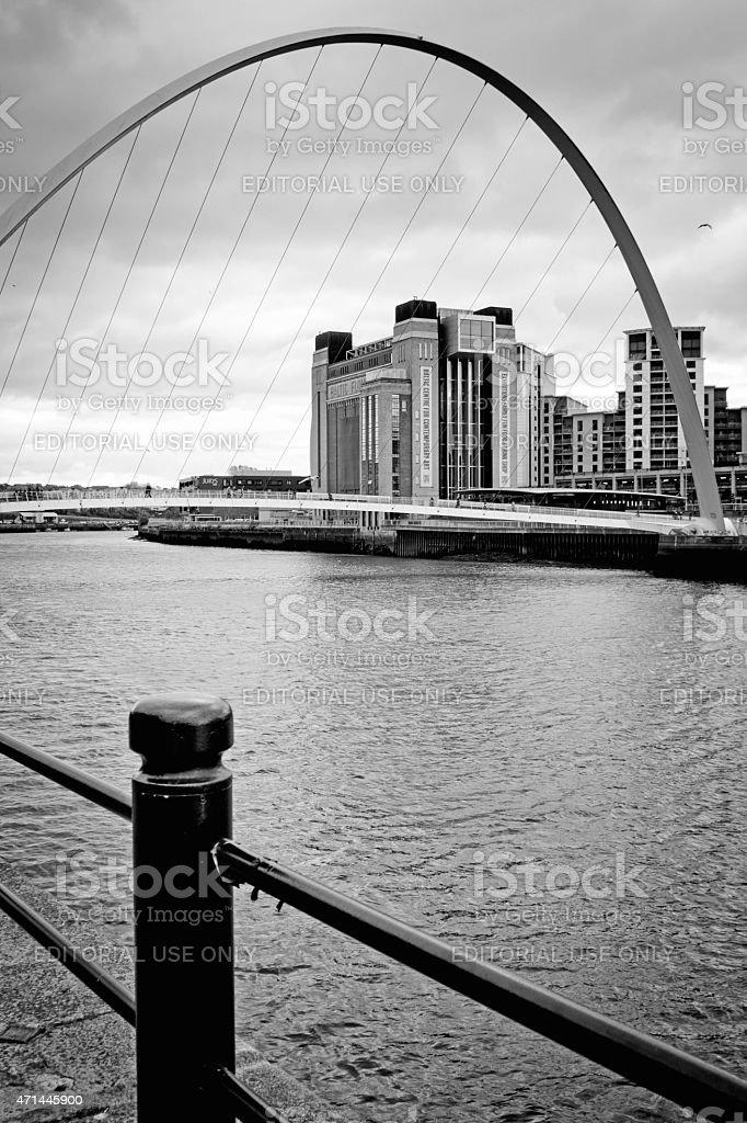 The Millenium Bridge stock photo