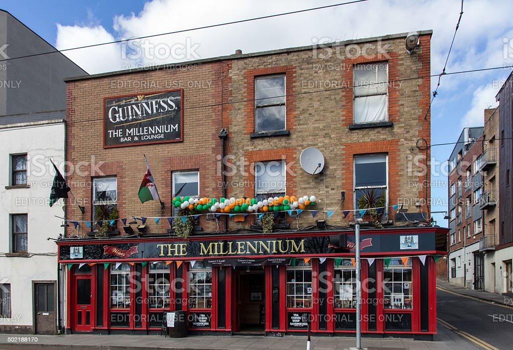 The Millennium Bar & Lounge in Dublin, Ireland, 2015 stock photo