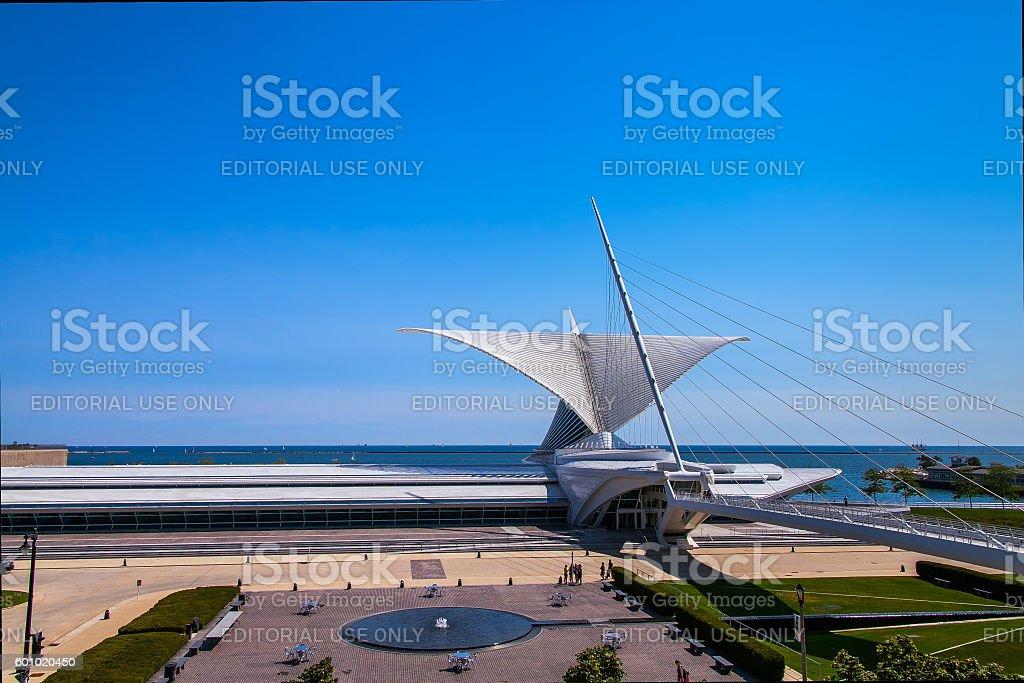 The Milwaukee Art museum stock photo
