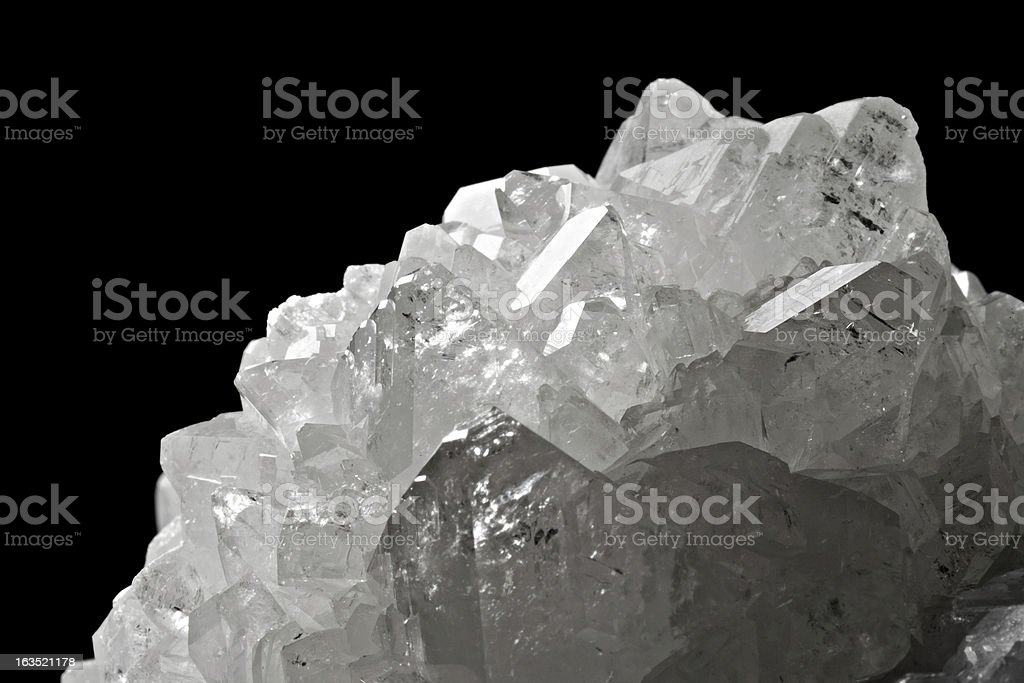 The mineral boron on a black background stock photo