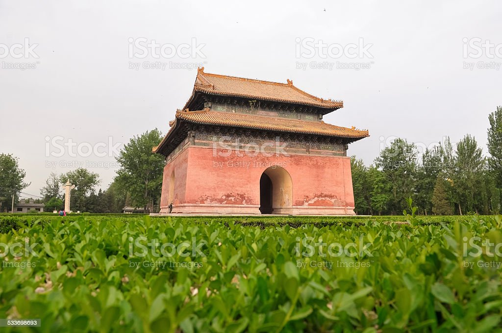 The Ming tombs mausoleum stock photo